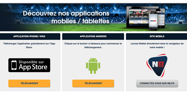 Application mobile Netbet