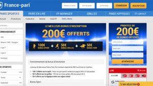 Bonus France Pari