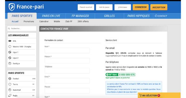 Contact France Pari