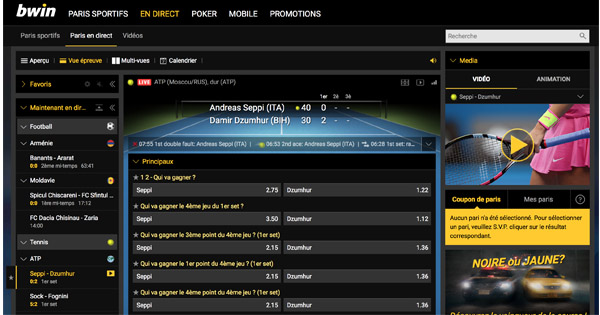 Interface Bwin