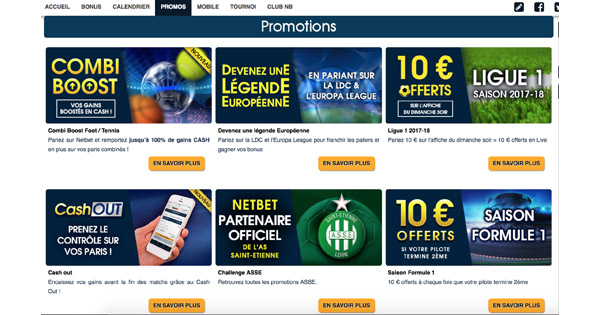 Promotions Avis Netbet