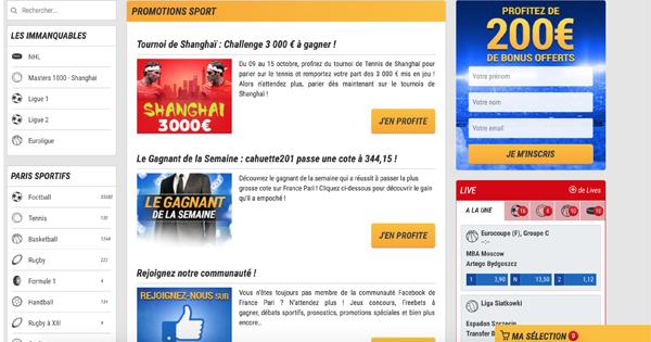 Promotions France Pari
