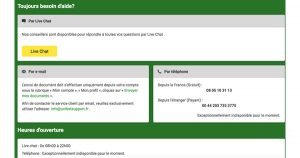 Support client Unibet