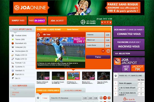 Avis Joa Online, paris sportifs