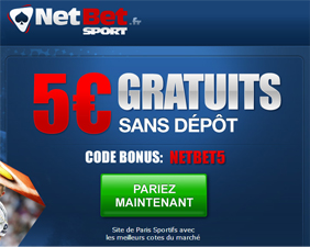 NetBet, Freebet ou pari gratuit