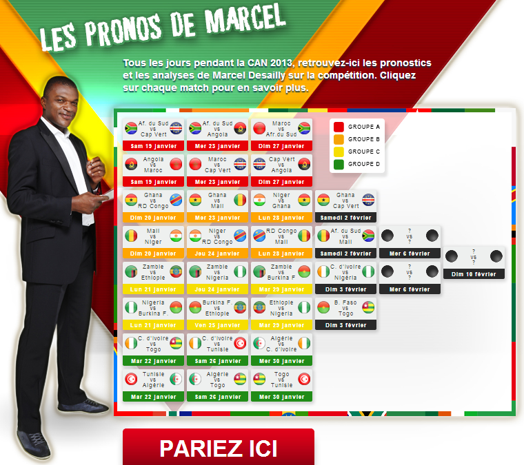 Pronostics CAN 2013 BetClic Desailly Marcel