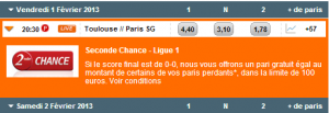 seconde chance bookmaker pmu