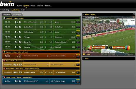 vidéo live betting