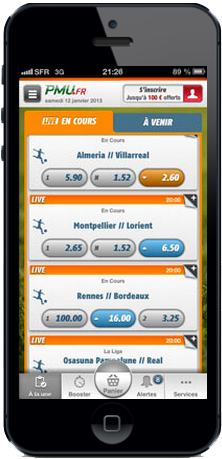application mobile pmu iphone ipad