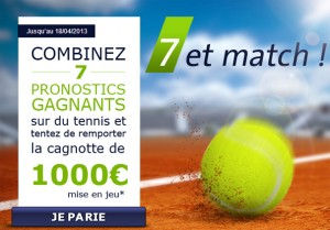 tennis 7 et match parionsweb 1000 euros