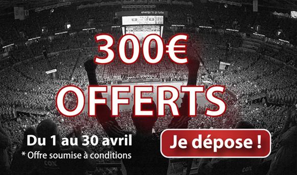bonus france pari 300 euros