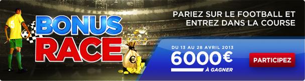 Bonus Race BetClic paris sportifs