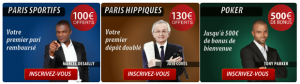 bookmakers bonus comparatif paris sportifs turf poker