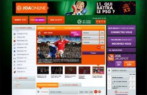 joa online paris sportifs