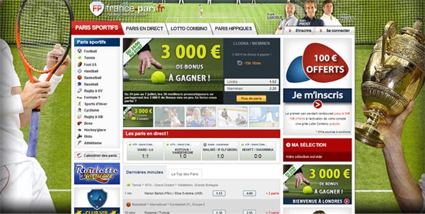paris sportifs wimbledon tennis france pari