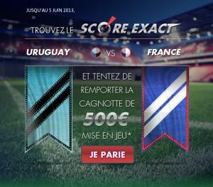 parionsweb pronostic uruguay france