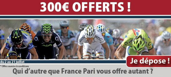 bookmaker france pari bonus tour de france