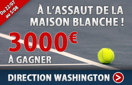 3000 sur le tournoi de tennis de washington france pari for Assaut sur la maison blanche