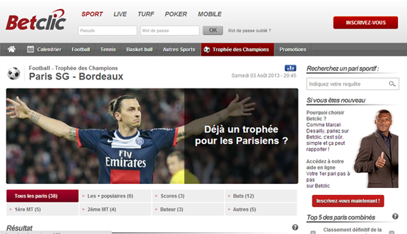 paris sportifs betclic football