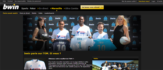 bwin marseille maillot football