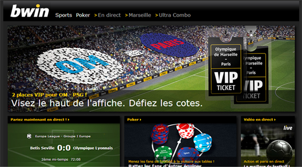 bwin paris football VIP om psg
