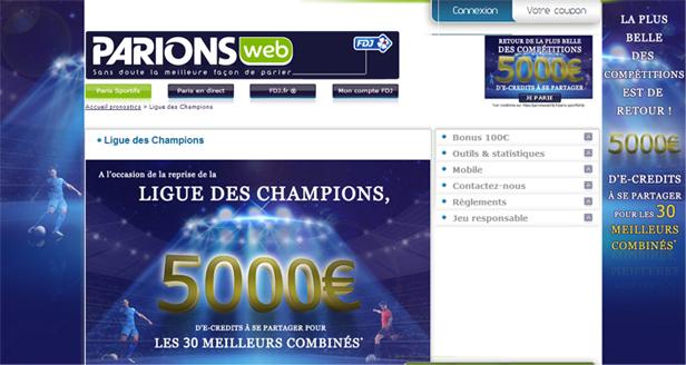 parionsweb pari football