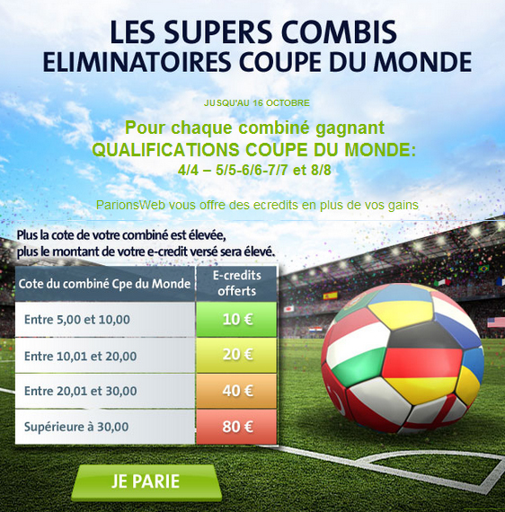 paris combinés football parionsweb