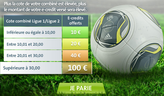 parionsweb pari combiné foot