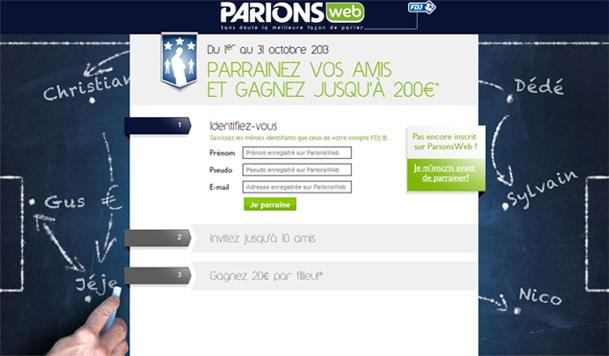 parrainage parionsweb
