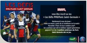 PMU PSG paris football maillots