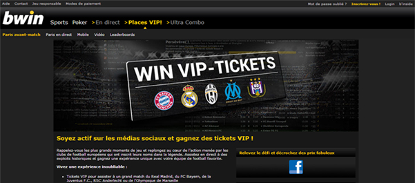 Bwin tickets VIP