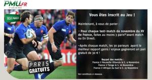 PMU freebets paris rugby