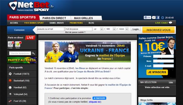 Score exact Ukraine France