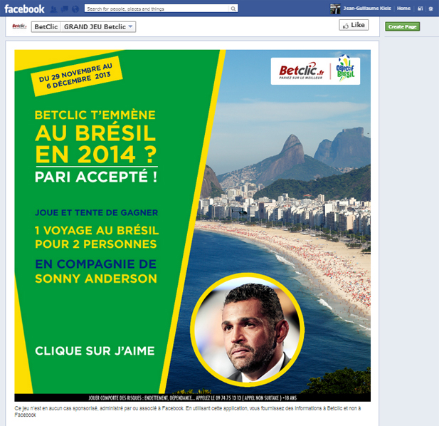 betclic facebook brésil