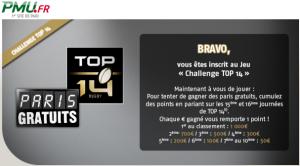 Challenge PMU Top 14