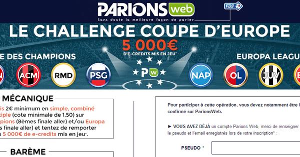 Paris sportifs ParionsWeb