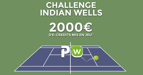 Tennis : Pariez sur Indian Wells avec ParionsWeb