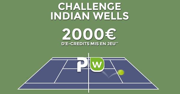 Tennis : Pariez sur Indian Wells avec ParionsWeb