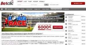 Bonus Race : Concours BetClic