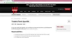 Winamax : nouveau site de paris sportifs ?
