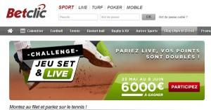 BetClic : Jeu Set et Live, Roland Garros 2014