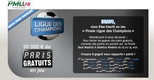 Concours finale Ligue des Champions PMU