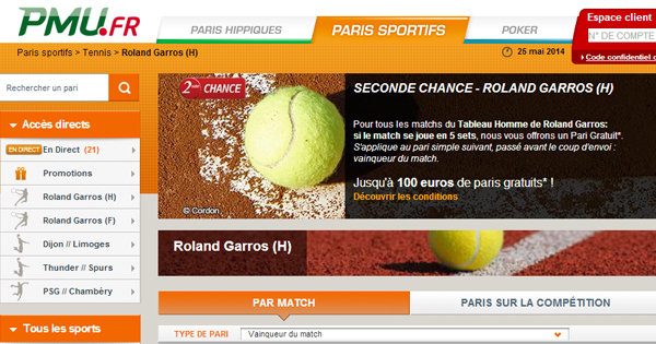 Roland Garros : Seconde Chance PMU