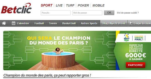 BetClic : Champion du Monde des paris sportifs
