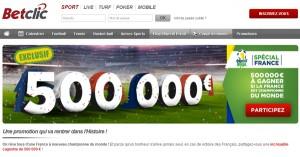 BetClic : 500.000€ si la France est championne du monde