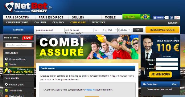 Combi Assuré Netbet Coupe du Monde