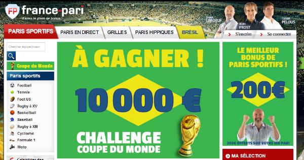 France Pari : Challenge Mondial 2014
