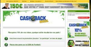 Unibet : Cash Back Coupe du Monde 2014