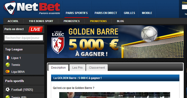 Golden Barre Netbet