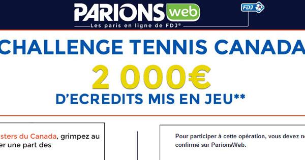 ParionsWeb : Master tennis Canada